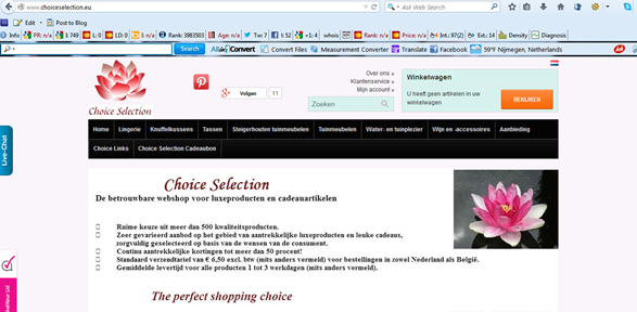 Webtekst Choice Selection